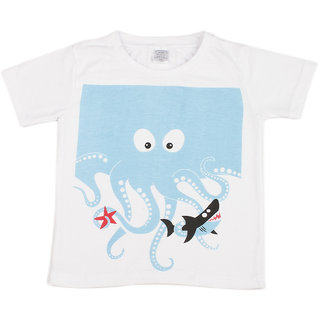 Pikaboo Shark Printed Kinitted Cotton T Shirt For Boy (2-3 Years)