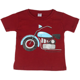 Pikaboo Bike Printed Kinitted Cotton T Shirt For Boy (2-3 Years)