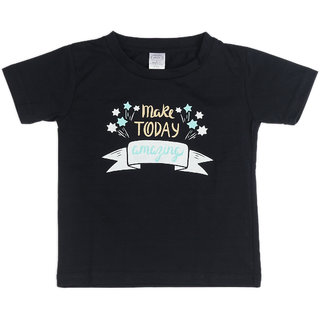 Pikaboo Shoot For The Stars Printed Kinitted Cotton T Shirt For Boy (2-3 Years)