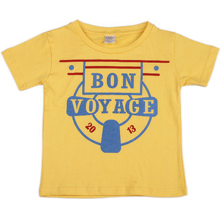 Pikaboo Bon Voyage Printed Kinitted Cotton T Shirt For Boy (2-3 Years)