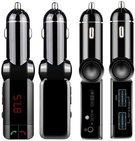 Dual USB Port 2.1A Bluetooth Smart Car Charger Kit With