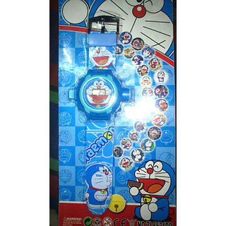 DORAEMON WATCH 24 IMAGE PROJECTOR WATCH GIFT TOY FOR KID  Style Kids Projector - 5972680