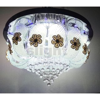 400 mm Led Jhoomer Ceiling Light Decorative LED Chandelier With Three Color And Sound System 4