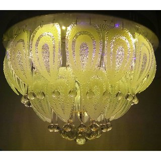 500 mm Led Jhoomer Ceiling Light Decorative LED Chandelier With Three Color And Sound System