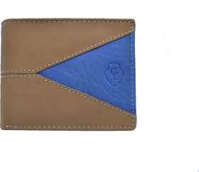 Creative Edge Tan and Blue Leather Wallet