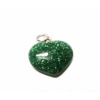 ReBuy Heart Pendant Green Jade Gemstone Pendant for Wealth - Beautiful Gift