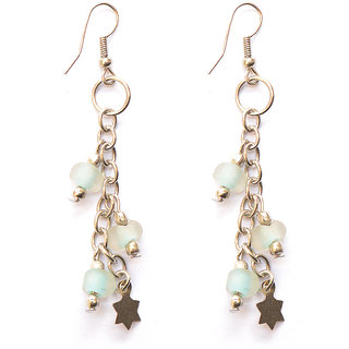 Silver Plated Aqua Earring by Sparkling Jewellery