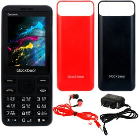 Blackbear Dynamic (Dual Sim, 2.4 Inch Display, 1850 Mah Battery, Black)