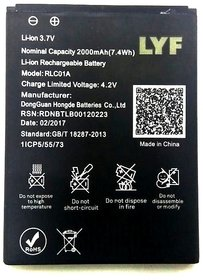 Reliance Jio Lyf Flame 1 Li Ion Polymer Replacement Battery RLC01A 2000mah by Snaptic