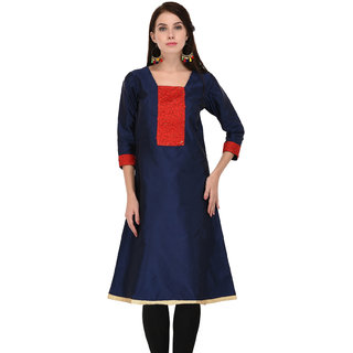 Inspire world Tafta with imported lace embelished kurti for womens