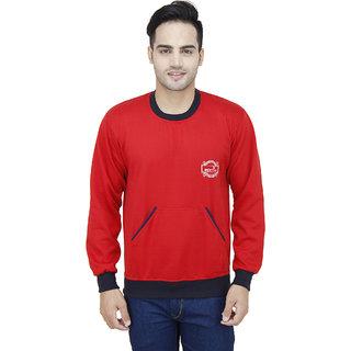 Kristof Red Round Neck Sweatshirt
