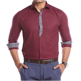Mark Pollo London Cotton Rich Fabric With Linen Look Slim Fit Formal and Semi Formal For Men