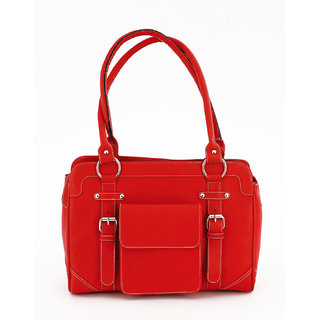 2e30ca4fa025c Buy Jl Collections Women s Leather Red Shoulder Bag Online - Get 5% Off