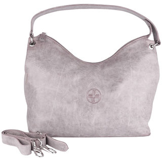 Buy Jl Collections Women s Leather Grey Shoulder Bag Online - Get 5% Off 3cc80c8b21f4f