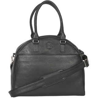 b4dc34b083a4 Buy Jl Collections Women s Leather Black Tote Bag Online - Get 5% Off