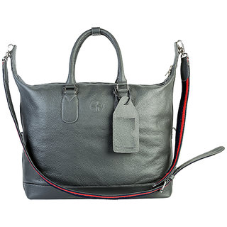 855bc640ec39 Buy Jl Collections Women s Leather Grey Tote Bag Online - Get 5% Off