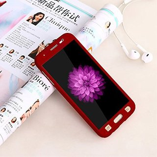 Samsung Galaxy J5 360 Degree Full Cover Color Red By Brand Fuson