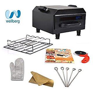 WELLBERG MICRO COMBO ELECTRIC TANDOOR WITH PIZZA CUTTER GRILL GLOVES RECIPE BOOK SKWERS AND MAGIC CLOTH WORTH 1500