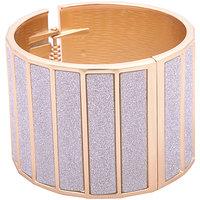 Young & Forever Bling Bling Gold Bar Shimmer Cuff Bracelet For Women