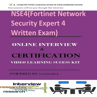 NSE4(Fortinet Network Security Expert 4 Written Exam) Online Certification  & Interview Video Learning ebook