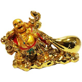 ReBuy Laughing Buddha Dragging Potli / Feng Shui /Health Happiness For Family