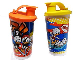 Tupperware Printed Tumbler With Sipper Seal 660 ml   (Set of 2)