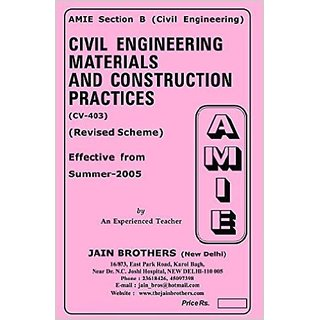 AMIE-Section-(B) Civil Engineering Materials and Construction Practices(CV-403) Civil Engineering Solved-Unsolved Paper