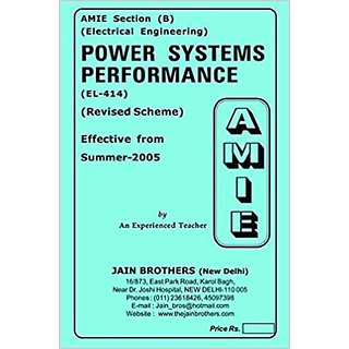 AMIE - Section (B) Power Systems Performance (EL- 414) Electrical Engineering Solved and Unsolved Paper
