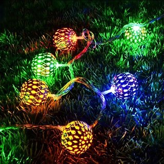 Ball Shape MultiColor 20-LED String Lamp Lights For Christmas Diwali Decoration