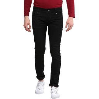 Urbano Fashion Men Black Slim Fit Mid Rise Jeans