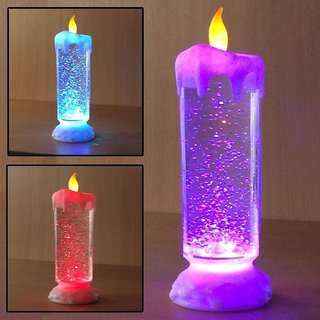 Amazing Color Changing Led Light Glitter Water Candle,Candle Light - Diwali