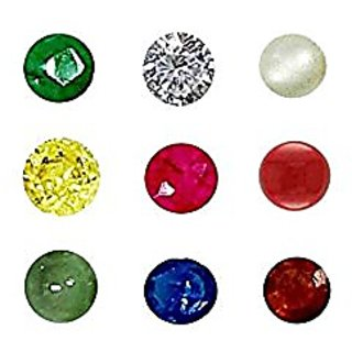 ReBuy Natural Navratna 4.00 mm 9 Gems For 9 Planets - AAA Quality ( Gemstones )