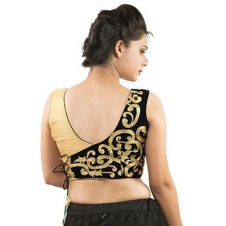 a3caf0f1cd36ce Buy Intrigue Black Velvet Stitched Blouse Online - Get 22% Off
