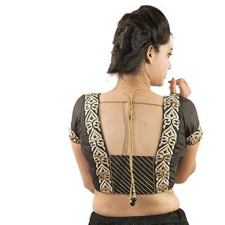 Intrigue Black Dupion Silk Stitched Blouse