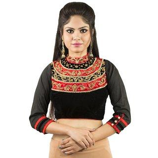 620c788e20809 Buy Intrigue Black Velvet Stitched Blouse Online - Get 10% Off