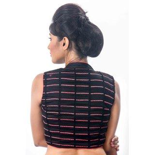 87d76e87c38261 Buy Intrigue Black Cotton Stitched Blouse Online - Get 18% Off