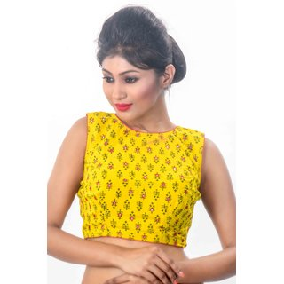 2ecf9fee2da Buy Intrigue Yellow Cotton Stitched Blouse Online - Get 17% Off
