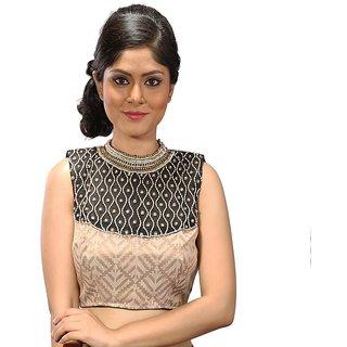 82d6929376a0a9 Buy Intrigue Golden Silk Stitched Blouse Online - Get 15% Off