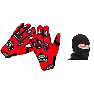 Combo Red Knighthood Gloves+Face Mask
