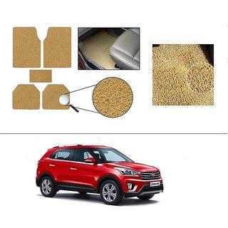 AutoStark Anti Slip Noodle Car Floor Mats Set of 5-Beige For Hyundai Creta