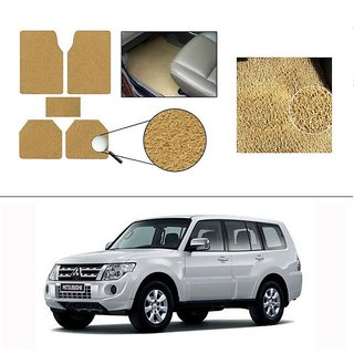 AutoStark Anti Slip Noodle Car Floor Mats Set of 5-Beige For Mitsubishi Montero