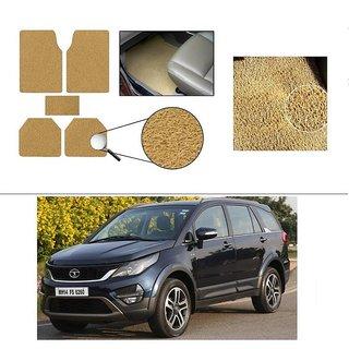 AutoStark Anti Slip Noodle Car Floor Mats Set of 5-Beige For Tata Hexa