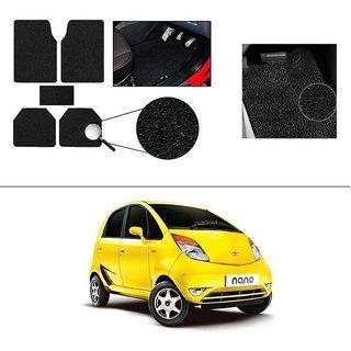 AutoStark Anti Slip Noodle Car Floor Mats Set of 5-Black For Tata Nano
