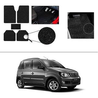 AutoStark Anti Slip Noodle Car Floor Mats Set of 5-Black For Mahindra Quanto