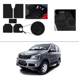 AutoStark Anti Slip Noodle Car Floor Mats Set of 5-Black For Mahindra Xylo
