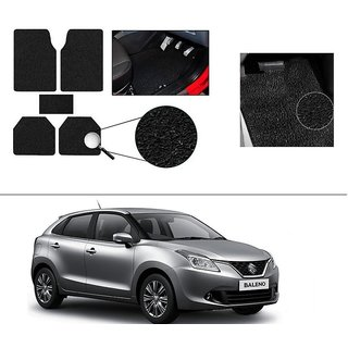 AutoStark Anti Slip Noodle Car Floor Mats Set of 5-Black For Maruti Suzuki New Baleno