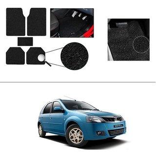 AutoStark Anti Slip Noodle Car Floor Mats Set of 5-Black For Mahindra Verito Vibe Cs