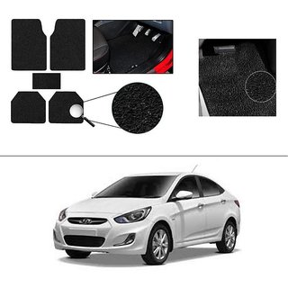 AutoStark Anti Slip Noodle Car Floor Mats Set Of 5 Black For Hyundai Verna Fluidic