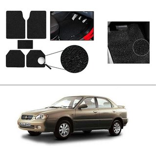 AutoStark Anti Slip Noodle Car Floor Mats Set of 5-Black For Maruti Suzuki Old Beleno