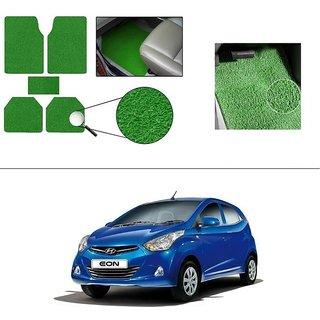 AutoStark Anti Slip Noodle Car Floor Mats Set of 5-Green For Hyundai Eon